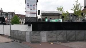 Stagebarriers met hoek